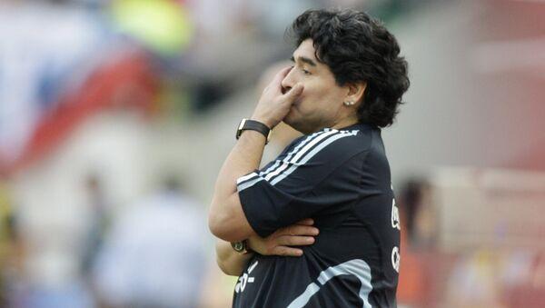 Diego Armando Maradona (archivo) - Sputnik Mundo