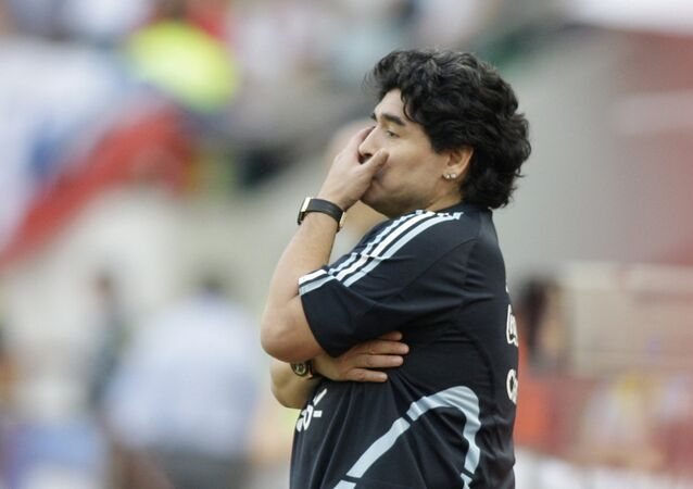 Diego Armando Maradona (archivo)