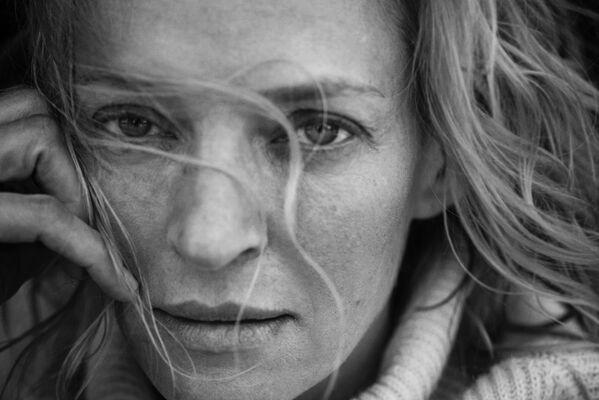 La actriz estadounidense Uma Thurman - Sputnik Mundo