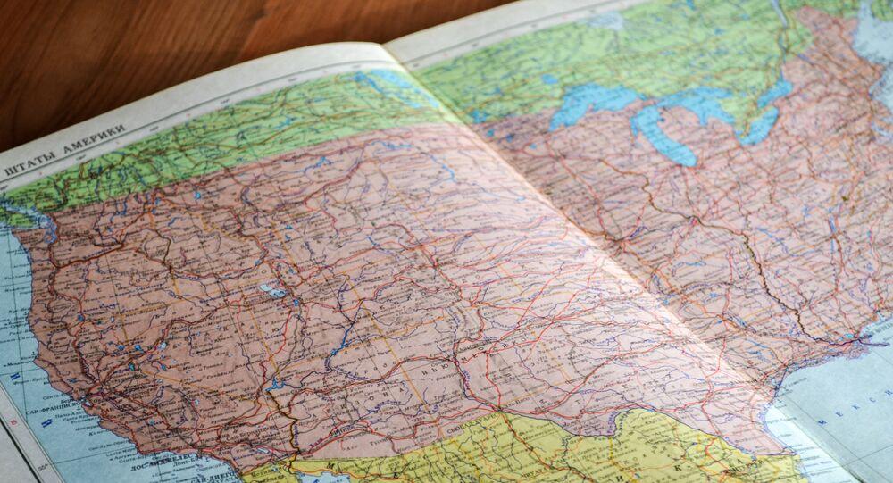 El mapa de EEUU