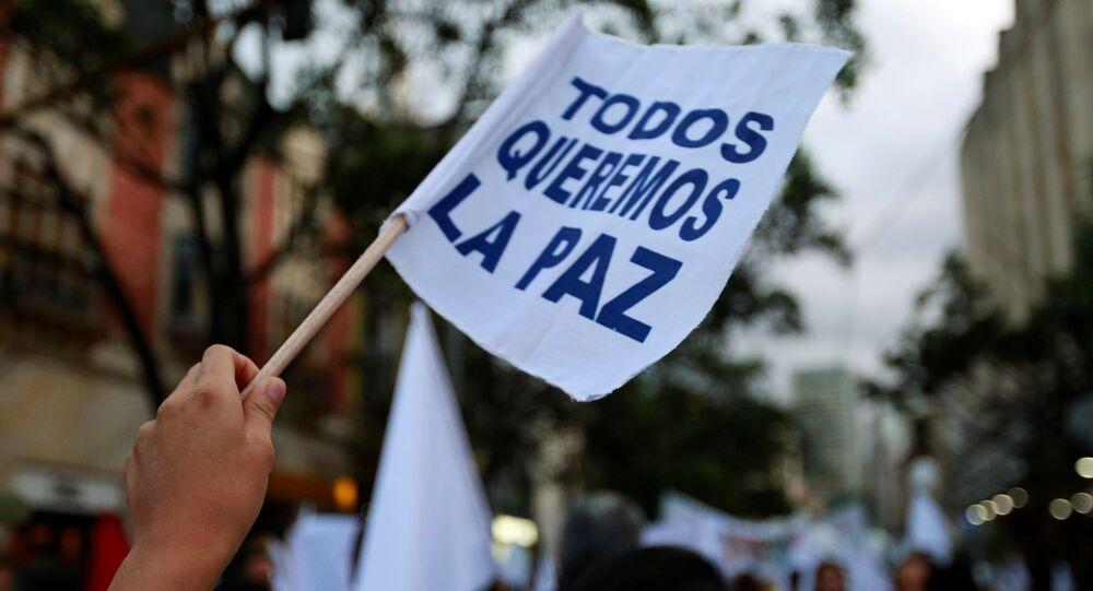 Una manifestación en apoyo de la firma del nuevo acuerdo de paz entre el Gobierno de Colombia y las FARC