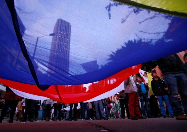 Los partidarios de la firma del acuerdo de paz en Colombia