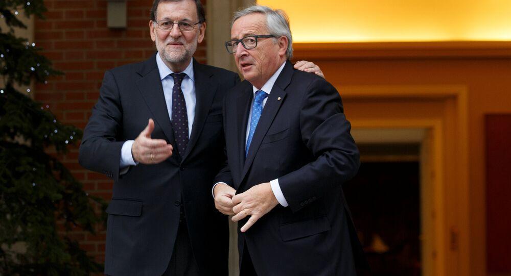 Presidente del Gobierno de España, Mariano Rajoy, y presidente de la Comisión Europea, Jean-Claude Juncker