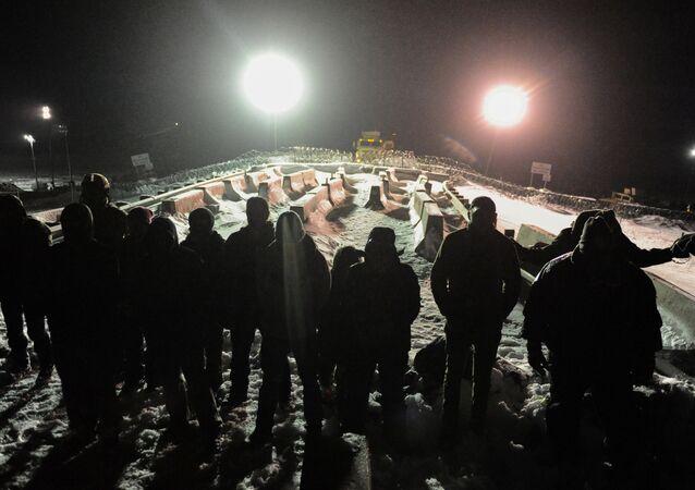 Protesta contra el oleoducto en Dakota