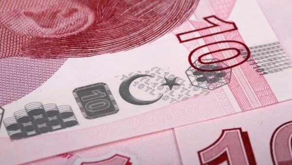 Billetes de liras turcas - Sputnik Mundo