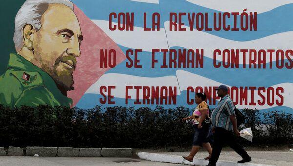 Una imagen de Fidel Castro, líder de la Revolución cubana (archivo) - Sputnik Mundo