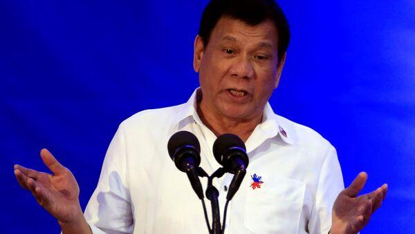 Rodrigo Duterte, el presidente de Filipinas (archivo) - Sputnik Mundo
