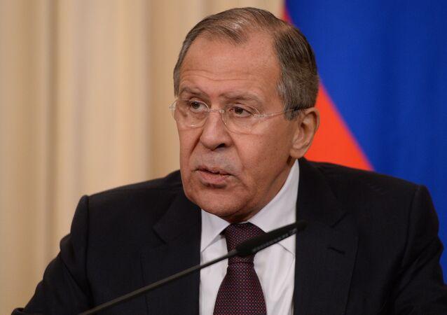 Serguéi Lavrov, ministro de Exteriores de Rusia (archivo)
