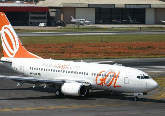 Un avión de Gol Transportes Aéreos