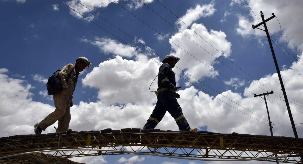 Mineros bolivianos (archivo)