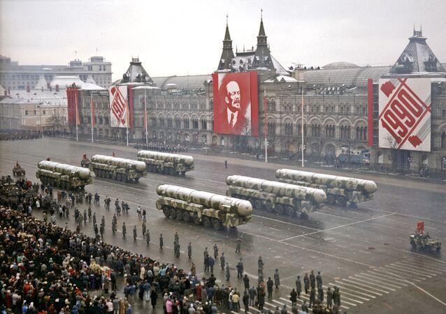 Celebración de la Gran Revolución Socialista de Octubre en 7 de noviembre de 1990