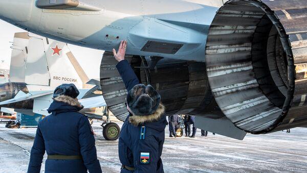 Los cazas de última generación SU-35 en todo su esplendor - Sputnik Mundo