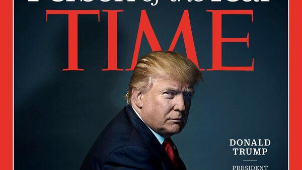 Donald Trump, en la portada de la revista Time (archivo) - Sputnik Mundo