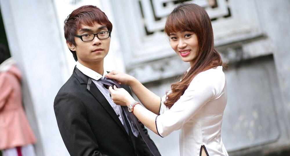 Una pareja japonesa