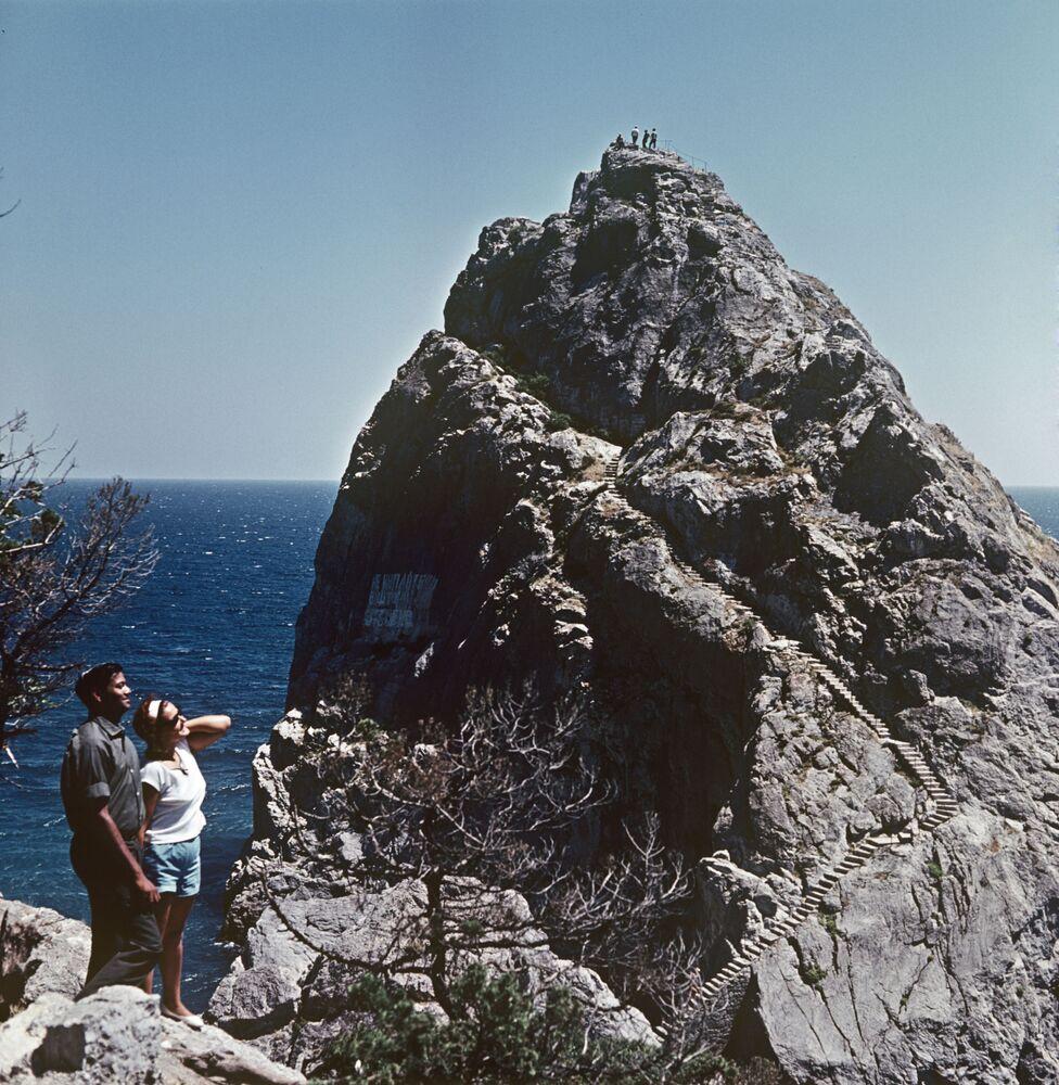 La roca Diva, en la ciudad de Simeiz. Crimea, 1966