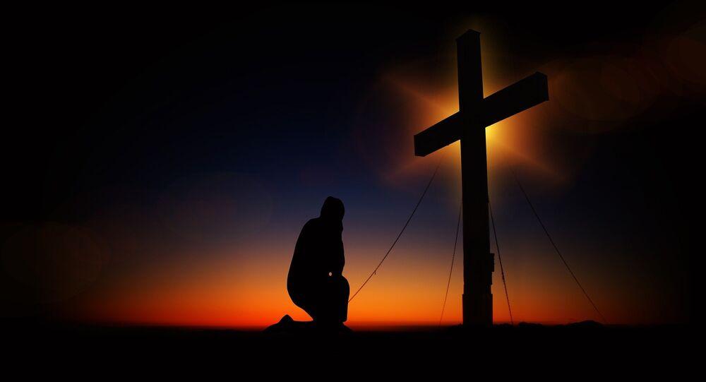 Un religioso (imagen referencial)