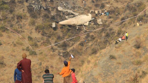 El lugar del hecho de la catástrofe en Pakistán - Sputnik Mundo