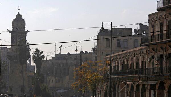 Una calle en Alepo - Sputnik Mundo