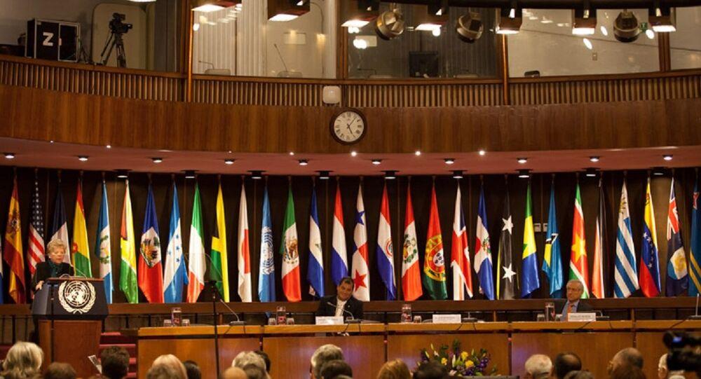Banderad de los países miembros de CEPAL