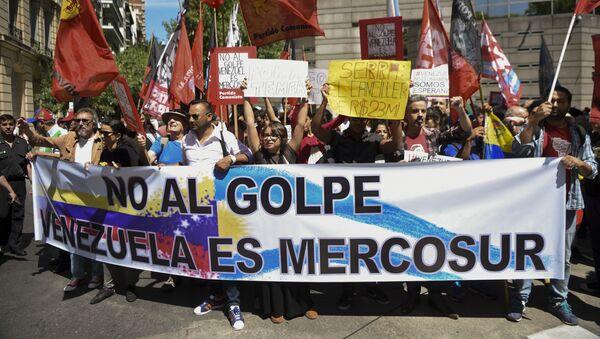 Marca contra suspensión de Venezuela como miembro pleno del Mercosur - Sputnik Mundo