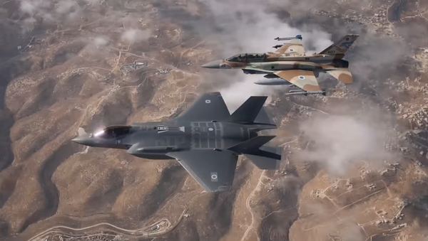 El primer vuelo de los cazabombarderos F-35 de la Fuerza Aérea israelí - Sputnik Mundo