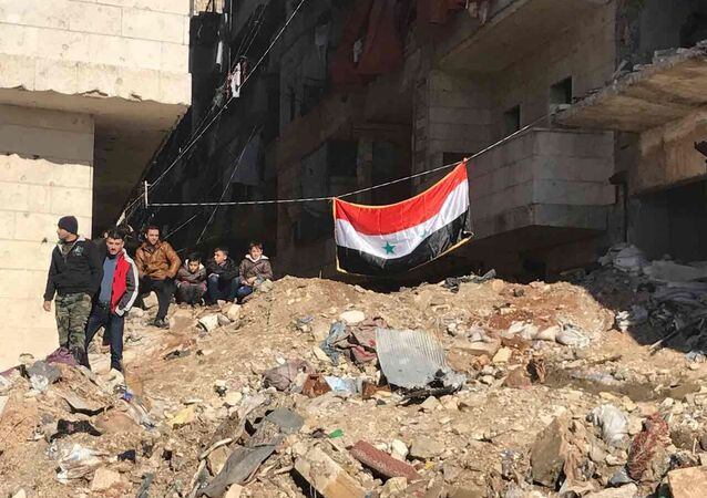 La situación en el este de Alepo, Siria