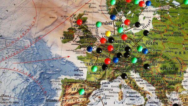 Map of Europe - Sputnik Mundo