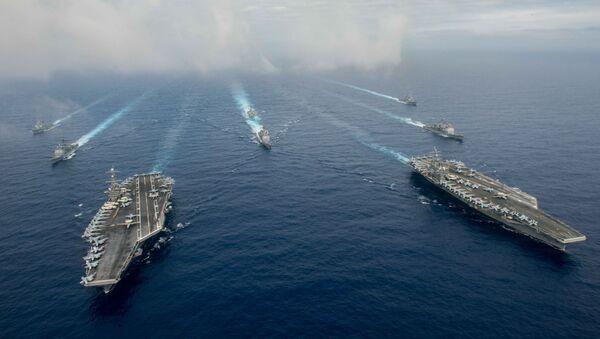 Los buques de la Armada de EEUU - Sputnik Mundo
