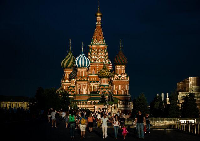 La catedral de San Basilio, en la Plaza Roja de Moscú.