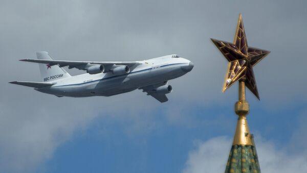 Avión de carga An-124-100 de la Fuerza Aérea de Rusia - Sputnik Mundo