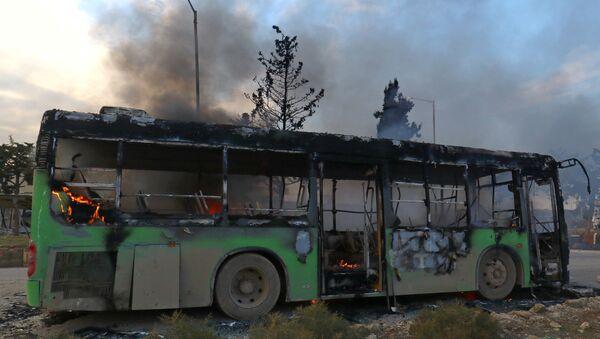 El autobús atacado - Sputnik Mundo