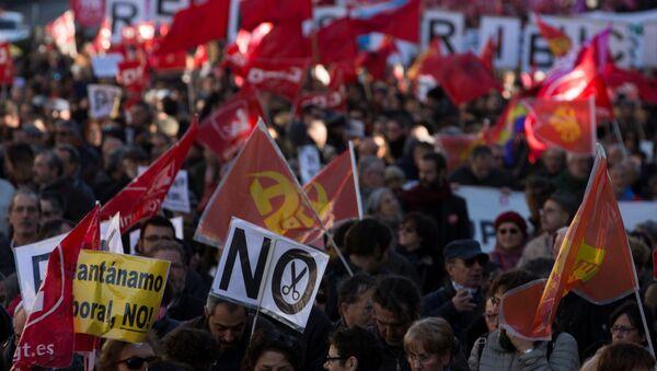 Protesta en Madrid - Sputnik Mundo
