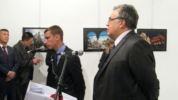 Embajador ruso, Andréi Karlov, asesinado en Turquía - Sputnik Mundo