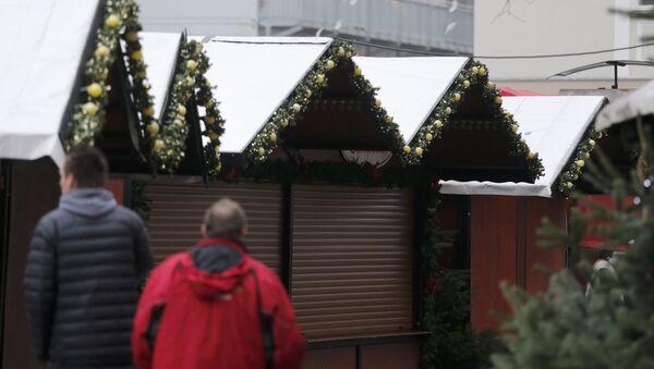 La feria navideña cerrada en Berlín - Sputnik Mundo