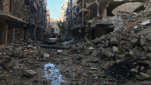 Edificios destruidos en Alepo - Sputnik Mundo