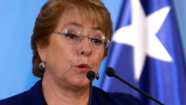 Chile's President Bachelet speaks during a news conference alongside Argentine President Macri in Buenos Aires - Sputnik Mundo