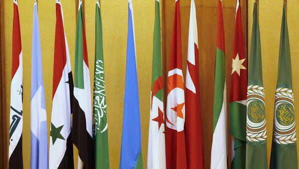 Banderas de los países de la Liga Árabe en El Cairo - Sputnik Mundo