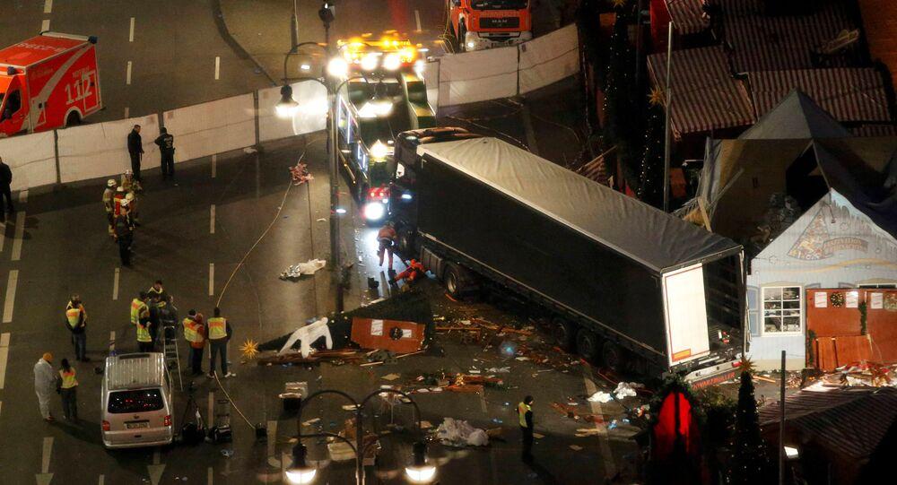 El lugar del atentado en Berlín