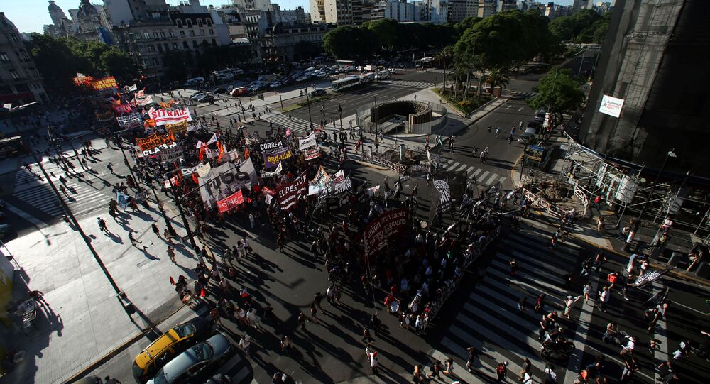 Marcha de protesta en Argentina (archivo)