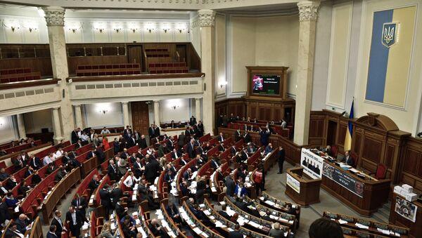 Заседание Верховной рады Украины в Киеве - Sputnik Mundo