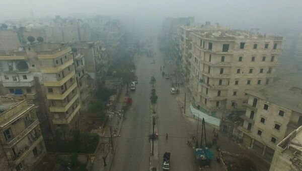 A still image from video taken December 13, 2016 of a general view of eastern Aleppo, Syria in the rain - Sputnik Mundo