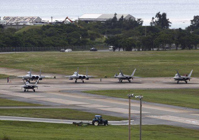 La base militar estadounidense en la isla de Okinawa