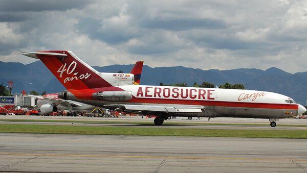 Un avión de carga Boeing 727 de la aerolínea Aerosucre (archivo) - Sputnik Mundo