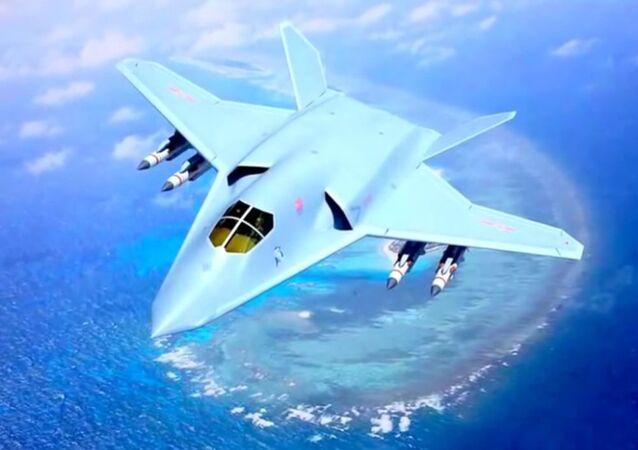 Diseño conceptual del bombardero furtivo H-20