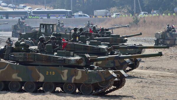 Tanques K-1 surcoreanos - Sputnik Mundo