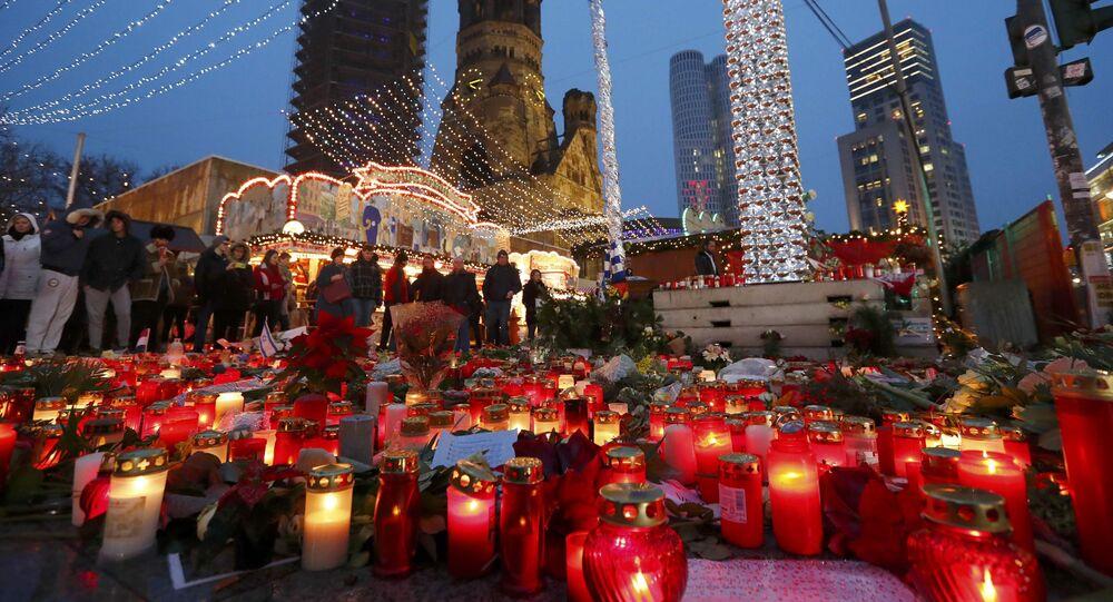 Lugar del atentado en Berlín, Alemania