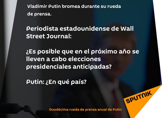 Vladímir Putin bromea