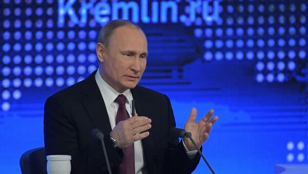 Russian President Vladimir Putin attends his annual end-of-year news conference in Moscow, Russia - Sputnik Mundo