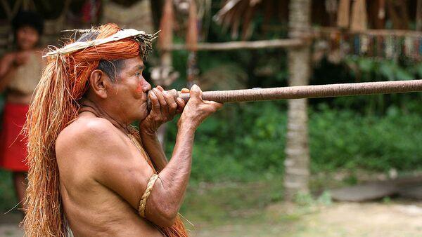 Indígena de la Amazonía peruana - Sputnik Mundo