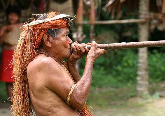 Indígena de la Amazonía peruana